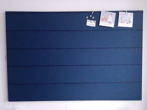 Navy Peg and String Fabric Notice Board