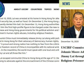 Jimmy Lai named religious prisoner of conscience by US federal commission