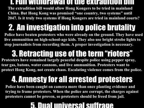 Protesters Resource Page: 5 demands - not one less!