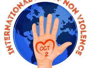 2 October is the UN International Day of Non Violence