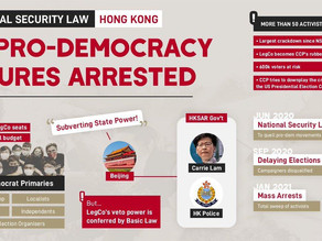 Arrests of 53 pro-democrats and threats to HK voters amounts to State torture and genocide