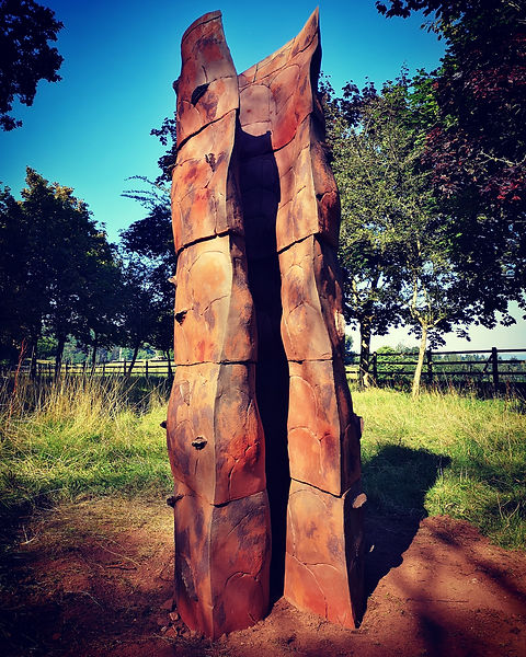 "Chris Speyer's ceramic sculpture ""Fold"""