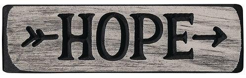 Hope  | Wood Sign