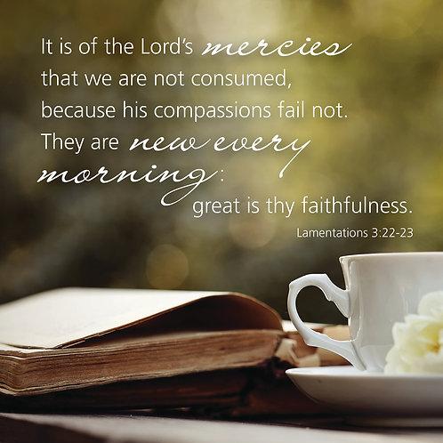 The Lord's mercies, Lamentations 3:22-23