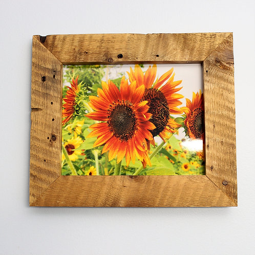 Rustic Picture Frame with Sunflower Picture