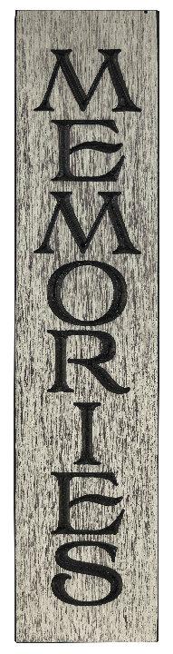 Memories, 2' Vertical Wood Sign