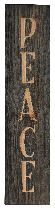 Peace, 2' Vertical Wood Sign