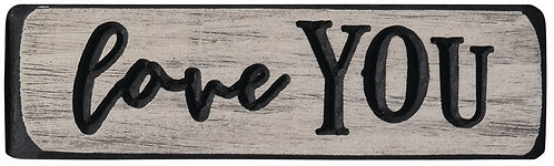 Love You  | Wood Sign