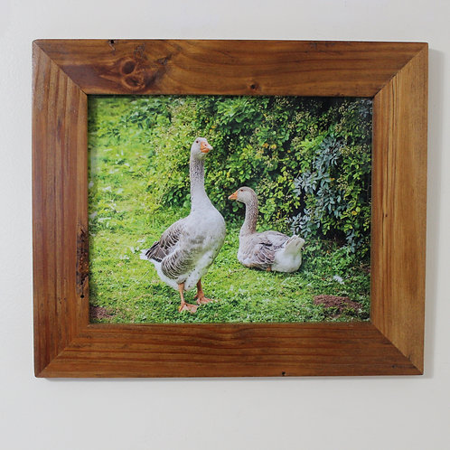 Rustic Picture Frame with Ducks