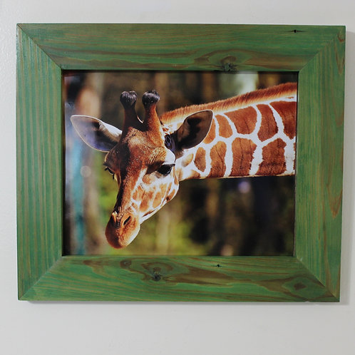 Rustic Picture Frame with Giraffe
