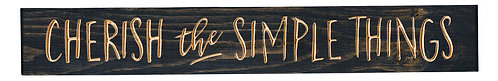 Cherish the Simple Things | Wood Sign