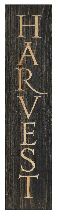 Harvest, 2' Vertical Wood Sign
