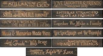 Large Wooden Signs