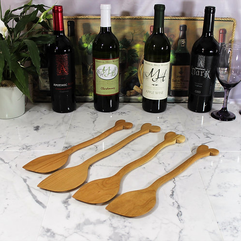 Wooden Spoon/Spatula with Oven Rack Pusher/Puller