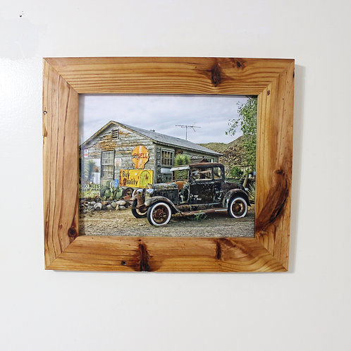Rustic Picture Frame with Antique Car