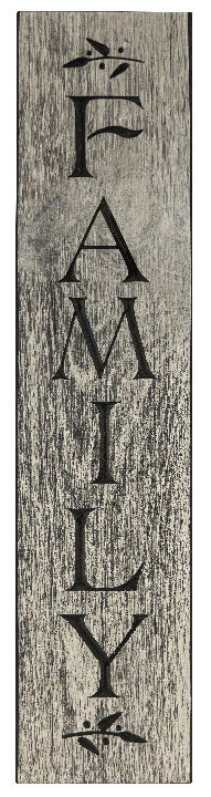 Family, 2' Vertical Wood Sign