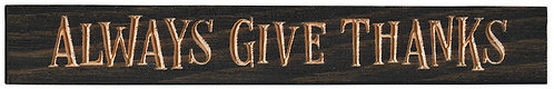 Always Give Thanks | Wood Sign