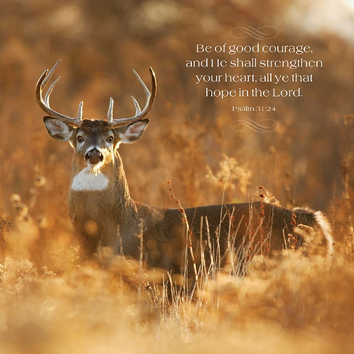 Be of good courage and He shall strengthen your heart, Psalm 31:24