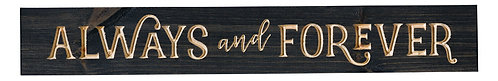 Always and Forever | Wood Sign
