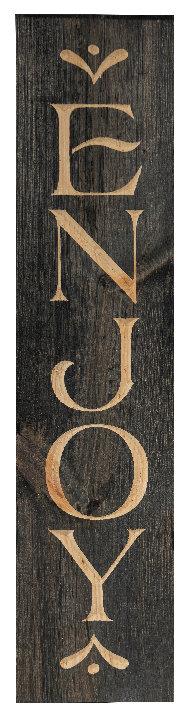 Enjoy, 2' Vertical Wood Sign