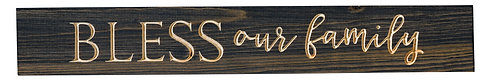 Bless Our Family | Wood Sign