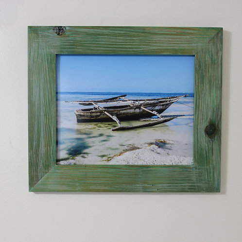 Rustic Picture Frame with Boat