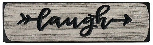 Laugh  | Wood Sign