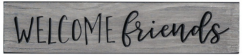 Welcome Friends | Wood Sign
