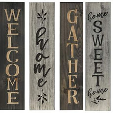 Vertical Wood Signs