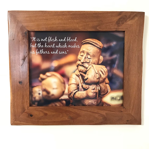 Rustic Picture Frame with Pinocchio
