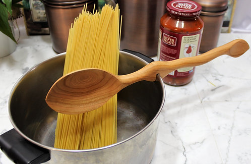 Wooden Cooking Spoon with Taste  Tester & Pot Notch