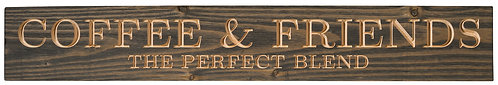Coffee & Friends: The Perfect Blend | Wood Sign