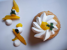 Baba au rhum, à l'orange et à l'aneth