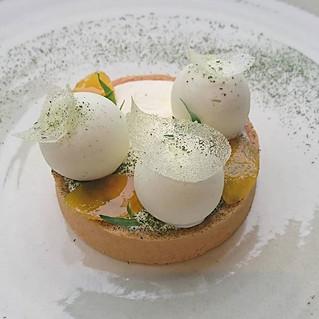 Tarte Yuzu, estragon et fleur d'oranger