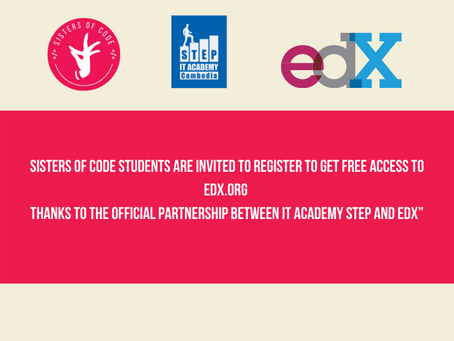 Sisters of Code students are invited to register to get free access to edx.org