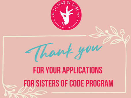 New groups with Sisters of Code start soon!