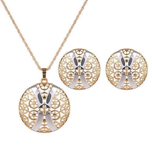 Unique design gorgeous elegant necklace set