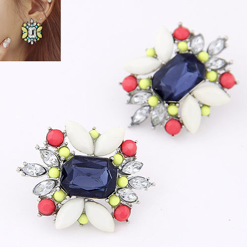Occident fashion easy match dazzling gem trendy unique ear studs