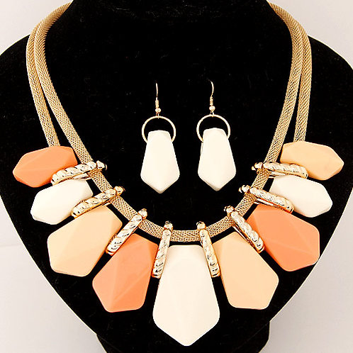 Occident fashion trendy easy match candy geometry shape easy match set necklace