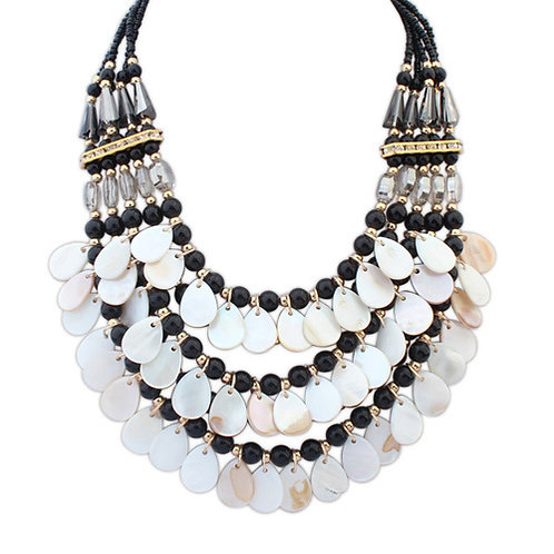 Occident summer style bright colorful necklace ( black )