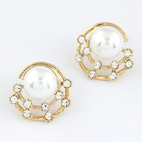 Exquisite Sweet grace gem Pearl ear studs