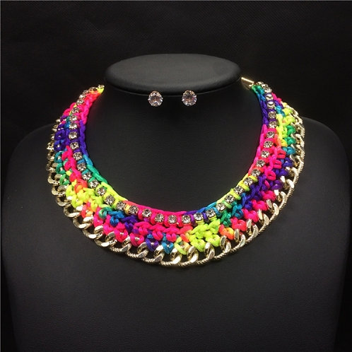 Fashion Hand woven Chains Choker  Necklace(colorful)