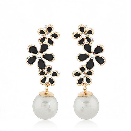 Exquisite Sweet flower Pearl ear studs