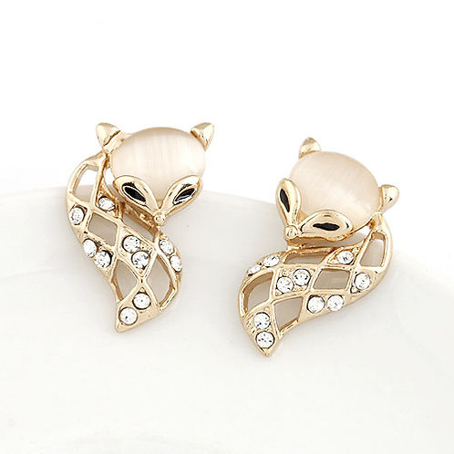 Exquisite Sweet lovely fox unique ear studs