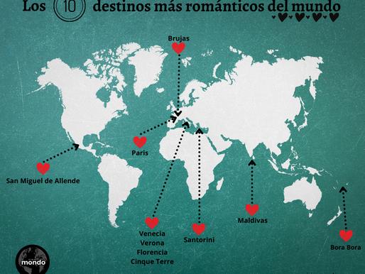 LOS DIEZ DESTINOS MAS ROMÁNTICOS EN EL MUNDO