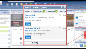 Collaboration Center - Contact Activity Widget