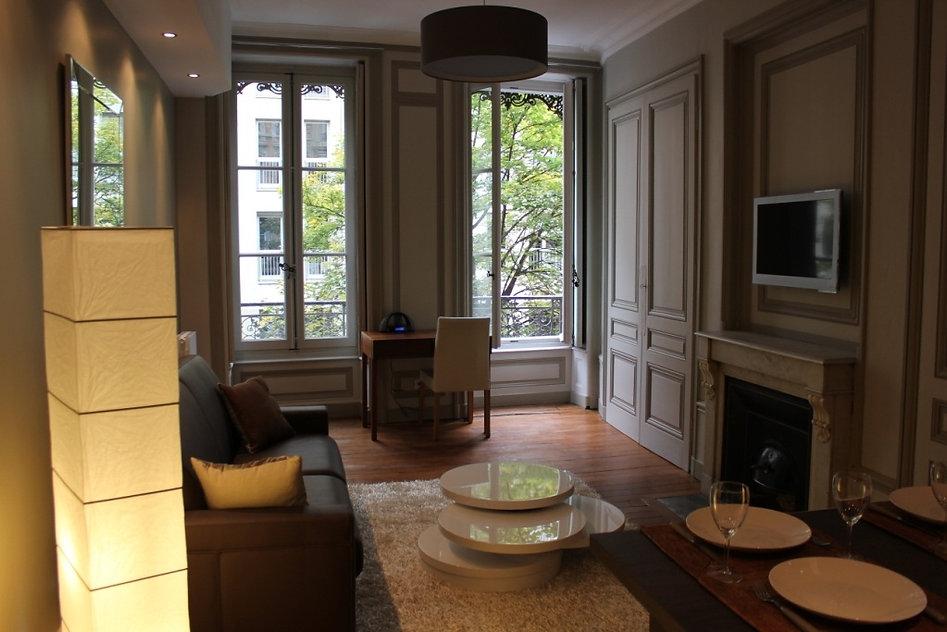 Lyon location appartement meuble de courte durée en centre ville, Lyon location saisonnière studio meuble tout confort