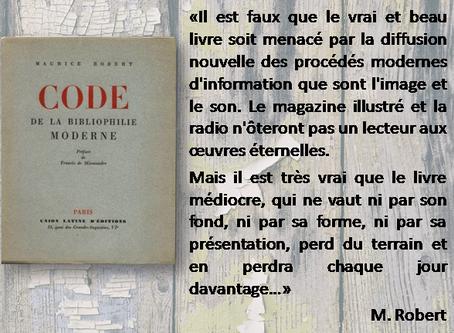La nostra tria: «Code de la bibliophilie moderne»