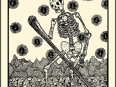 Death - Tarot Card from the Sapphic Enchantress Tarot Deck, Ayshe-Mira Yashin