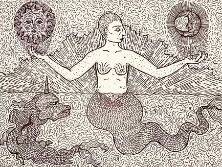 Dyke Mermaind with Unicorn Fish, Ayshe-Mira Yashin